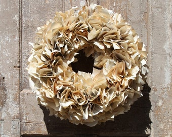 Vintage Book Page Wreath (A)