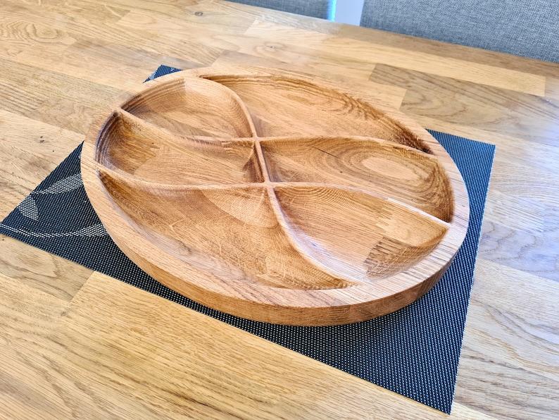 Solid English Oak Oval Serving Platter  Tapas Mezze image 0
