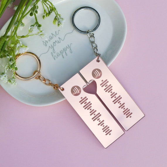 Personalized Song Code keychain Spotify Song Code Custom Spotify Code keyring Spotify keychain scan