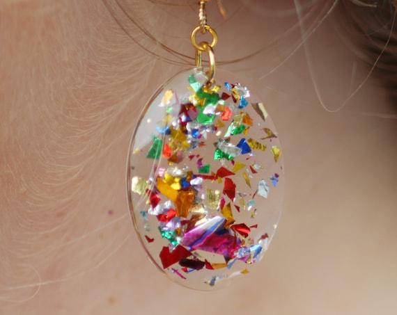 Carmen Earrings | Party Girl Confetti