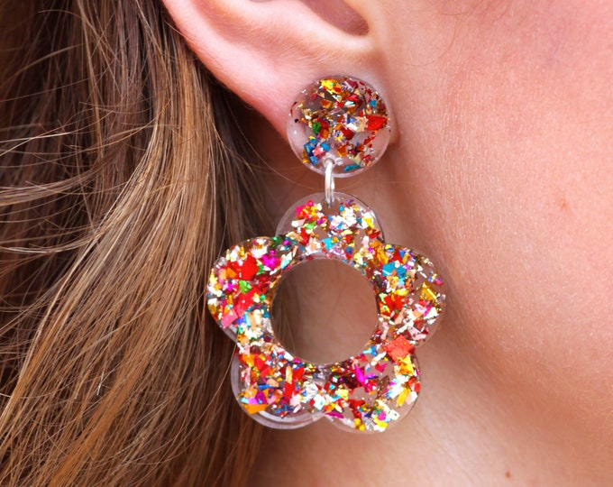 Featured listing image: Hyo Jin Earrings   Party Girl Confetti