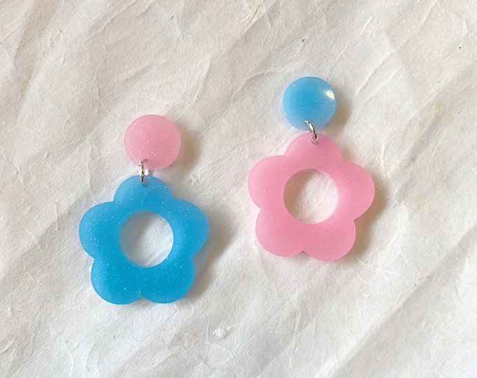 Featured listing image: Hyo Jin Flower Hoops | Made To Order Mix and Match Daydreaming Collection