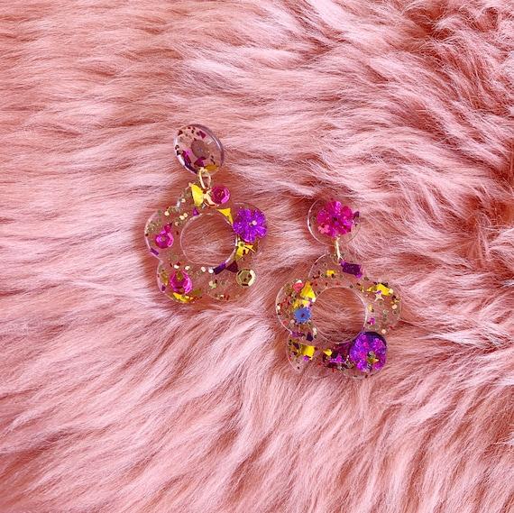 Kaleidoscope x Coco's Musings Hyo Jin Flower Hoop Earrings - Made To Order