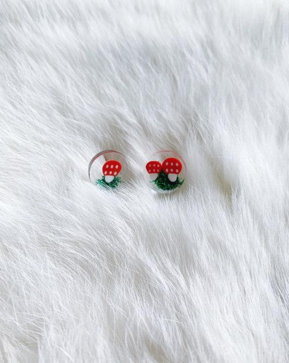 Mushroom Garden Denise Stud Earrings