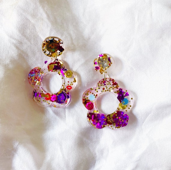 Kaleidoscope x Coco's Musings Hyo Jin Flower Hoop Earrings - Made To Order