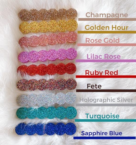 Marlowe Hair Clip   Solid Glitter