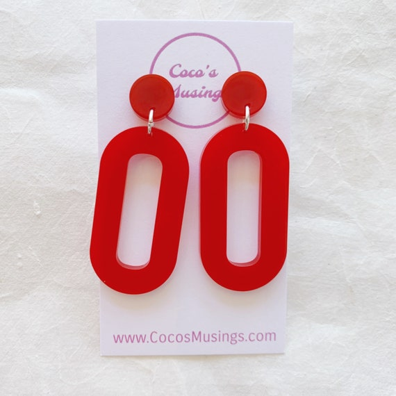 Baby Zooey Hoops | Candy Apple Red | OOAK
