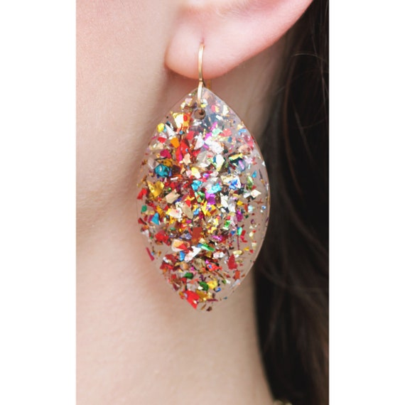 Agnes Earrings   Party Girl Confetti