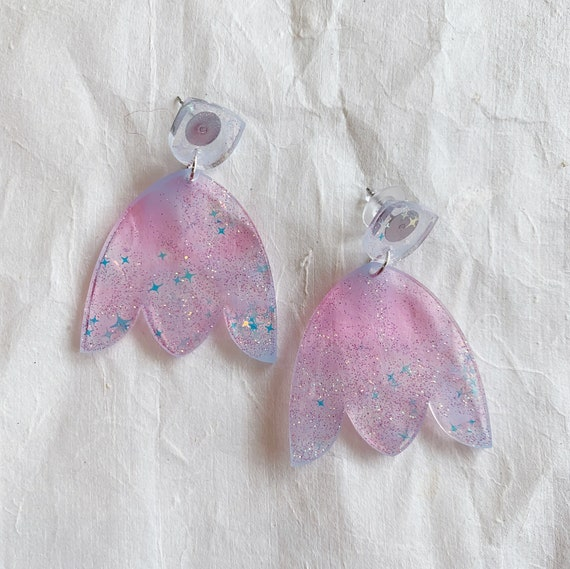 Reese Earrings | Cotton Candy | OOAK