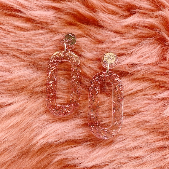 Baby Zooey Hoops | Pink Tinsel
