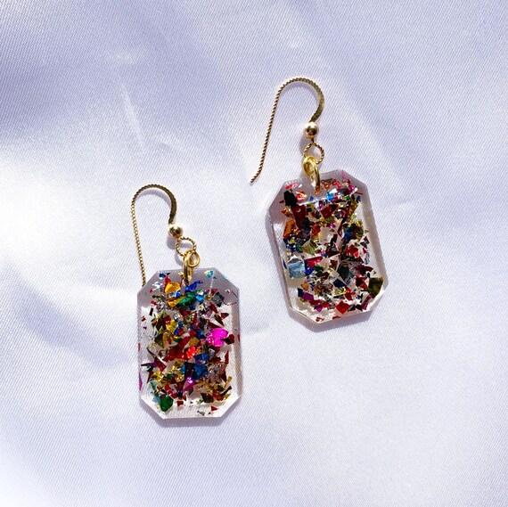 Karen Earrings | Party Girl Confetti