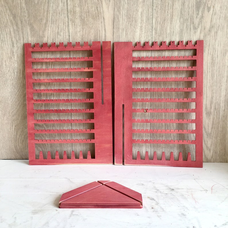 Earring Holder Organizer Display Stand Wood Studs
