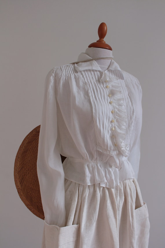 French antique organza blouse