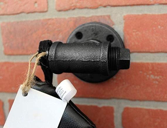 Steampunk black pipe coat hook Industrial Pipe Hooks Wall Art towel hook rustic coat rack hanger entryway hat hook industrial hook