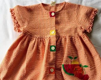 Vintage Orange Gingham Shirt