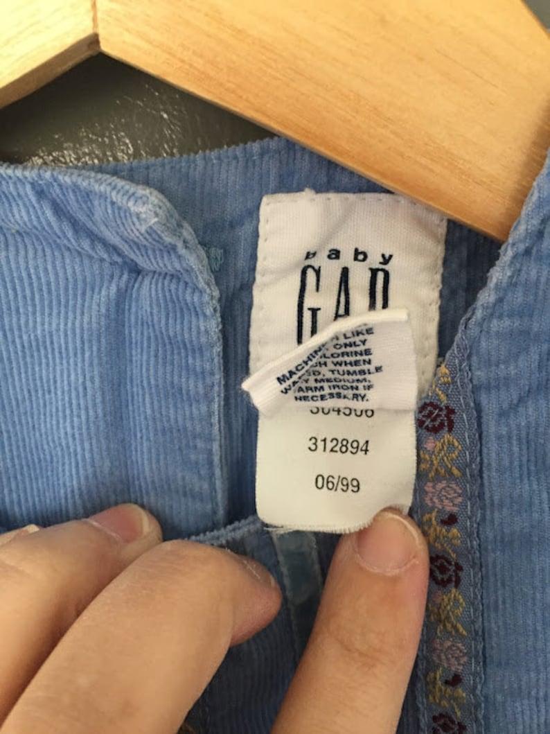 Vintage Baby Gap Blue Corduroy Overalls.