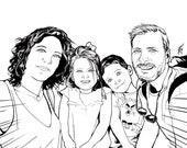 Pop Art Comic Portrait   Custom commission portrait in black and white or full color   Lietchestein digital comic portrait