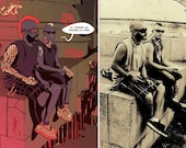 Cyberpunk portrait commission - Personalized comic artwork available