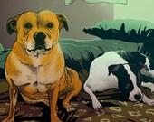 Comic Commission Portrait Pet   Personalized illustration of your pet