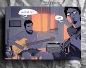 Custom canvas portrait - Comic commission printed on canvas