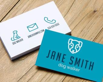 Pet business card etsy pet business card business cards business card pet dog walking calling cards dog walker dog business card custom business card colourmoves