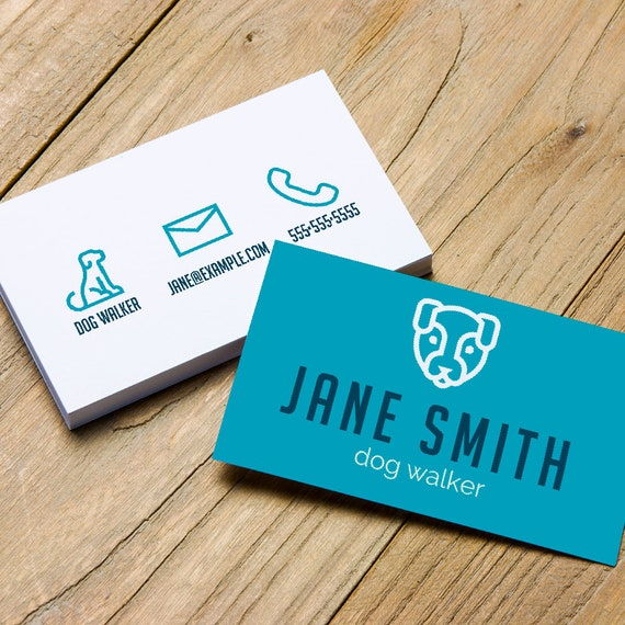 Pet business card business cards business card pet dog etsy image 0 colourmoves