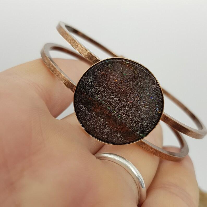 Essential Oils Diffuser Jewellery Australian Andamooka Matrix Opal Aromatherapy Bracelet 811