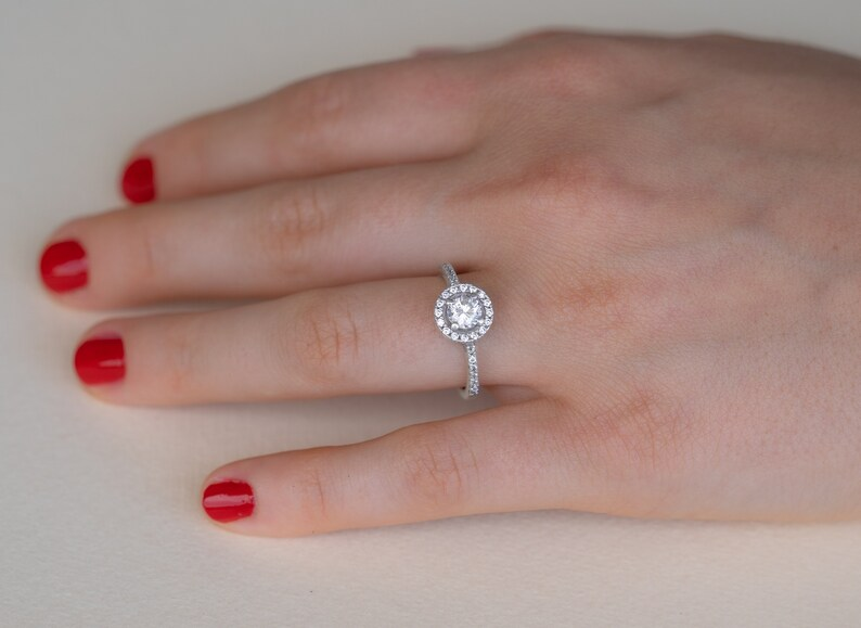 Halo Ring Promise Ring,