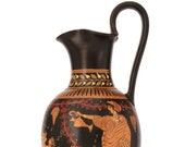 Ancient Greek Pottery Replica - Red-Figure Vase with Dionysus