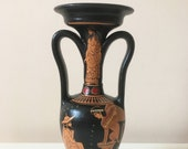 Ancient Greek Red-Figure Vase with Oedipus and the Sphinx (25CM 9.8 quot )