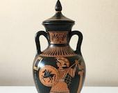 Ancient Greek Red-Figure Panathenaic Amphora with Athena (20cm 7.9 quot )