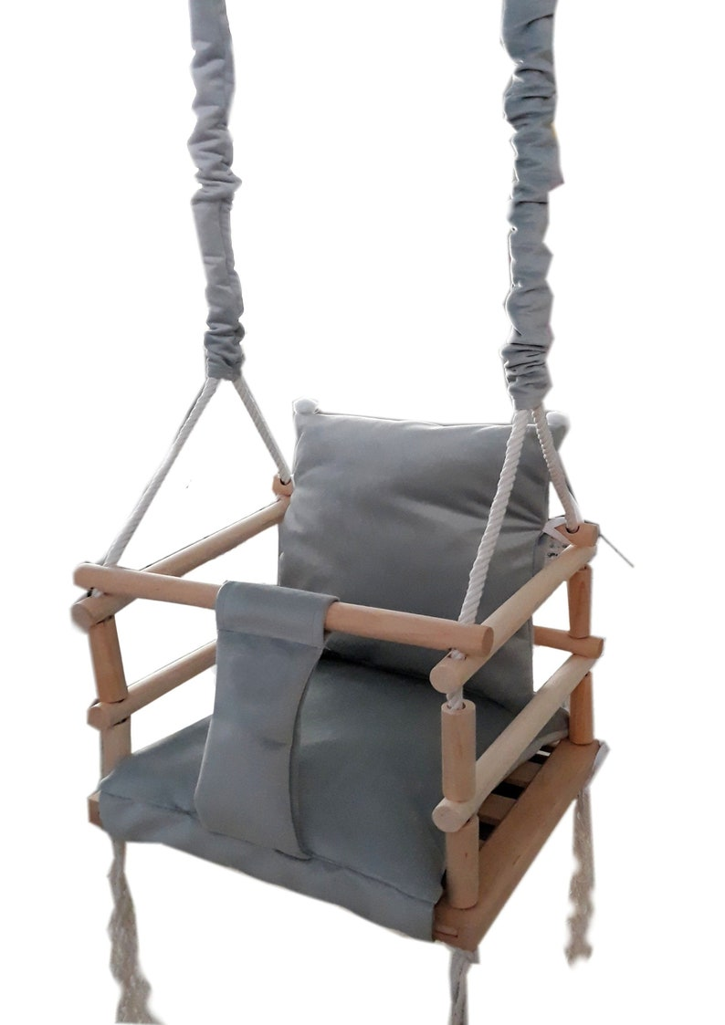 Magnifique chaise balançoire grise - Créatrice ETSY : RainbowKids333