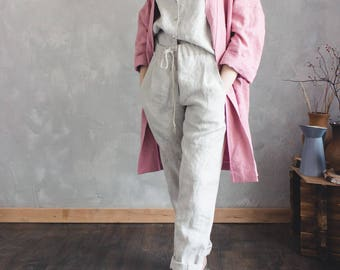 LINEN PANTS, loose linen pants, linen clothing, linen trousers, pants for women, loose linen pants, summer pants