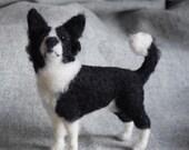 Border collie needle felted dog