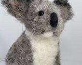 A needle felted Koala bear
