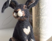 Hare, needle felted hare