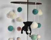 Dog Baby Mobile/Custom Made Mobile/Needle Felted Cot Mobile