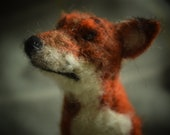 Needle felted fox, felted...