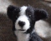 Border collie needle felt...