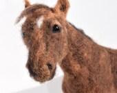 Needle felted horse portrait, horse portrait