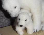 Needle felted polar bear ...