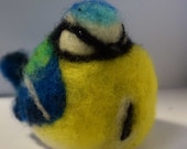 A wee needle felted blue tit