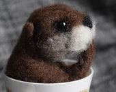 A wee needle felted otter...