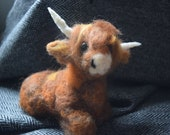 Highland cow needle felte...