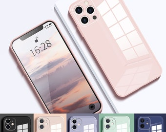 Glass Case iPhone 12 case iPhone 12 Pro Max case iPhone 11 case Hard Hybrid Luxury Shockproof Tempered Glass Case Cover for Apple