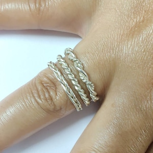 sterling silver stacking rings for women Toe ring dainty ring Stacking Rings Silver 14US sk16 silver band knuckle ring Size 1US