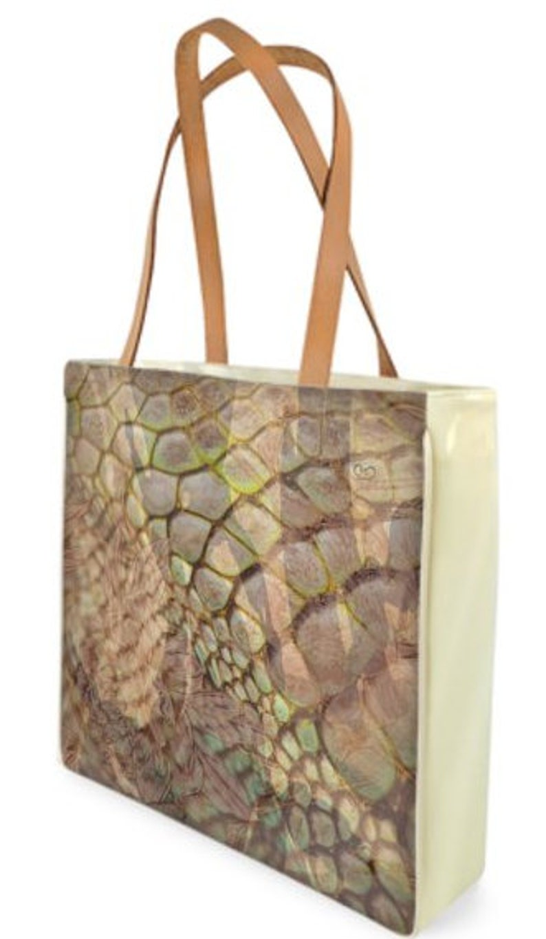 51e618ebe80d Coconut Camo Canvas Glossy Vinyl Shopping bag/bag in printed | Etsy