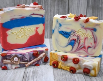 Handcrafted Bar Soap - America the Beautiful / America the Brave - Apple Pie