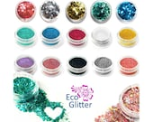 Biodegradable Glitter Chunky and Fine 3ml pots