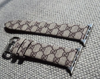 Free shipping! Designer inspired GUCCI apple watch band, Gucci band, Re produced out of Authentic material
